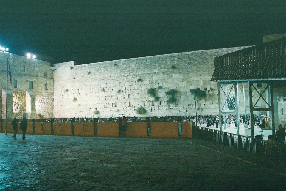 Visting the Kotel on the 1st night of Shnat